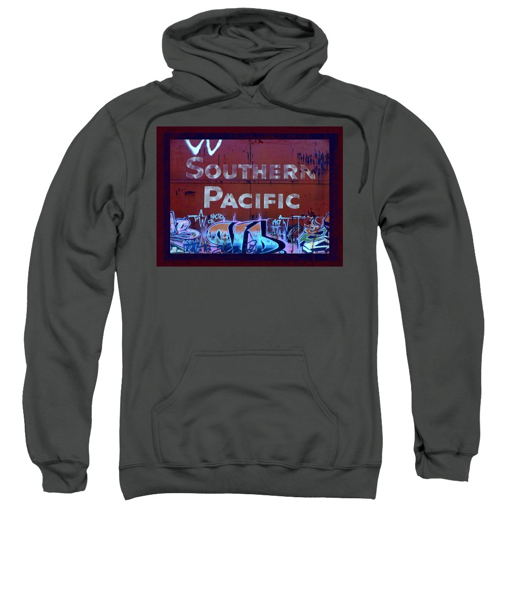 Tag Art Sweatshirt featuring the photograph Southern Pacific by Donna Blackhall