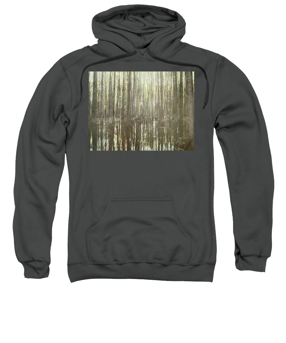 Brett Sweatshirt featuring the digital art Southern Swamp by Brett Pfister