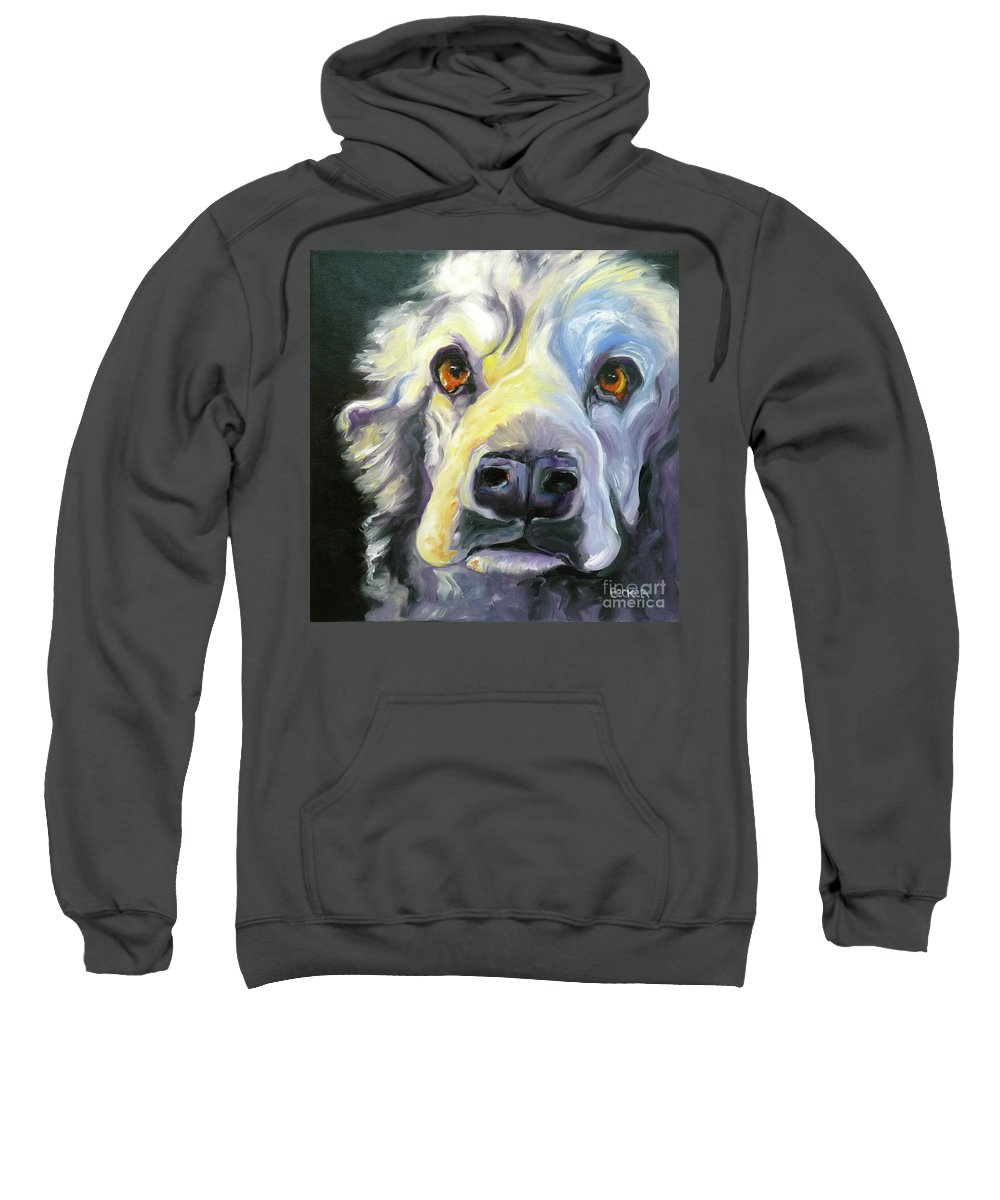 Dogs Sweatshirt featuring the painting Spaniel In Thought by Susan A Becker