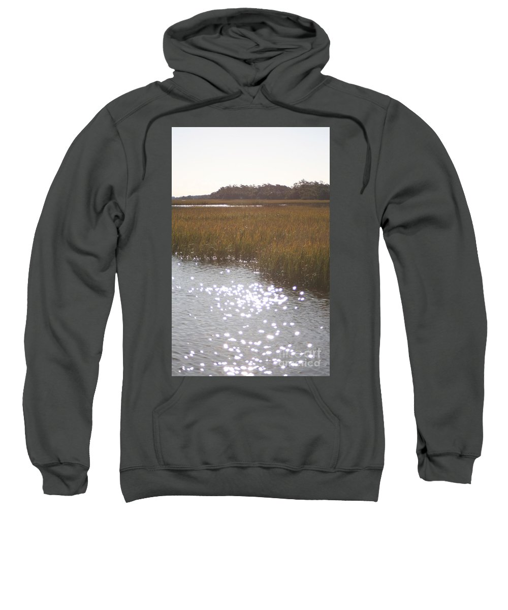 Marsh Sweatshirt featuring the photograph Sparkling Marsh by Nadine Rippelmeyer