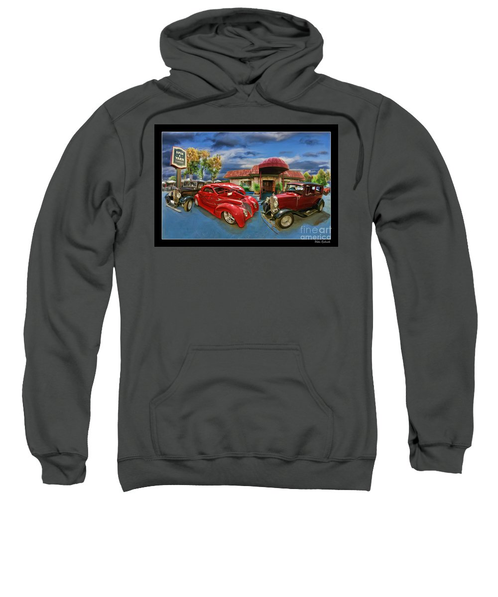 Car Sweatshirt featuring the photograph Spin A Yarn Car Show by Blake Richards
