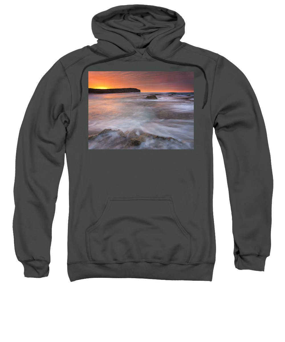 Sunrise Sweatshirt featuring the photograph Splitting The Tides by Mike Dawson