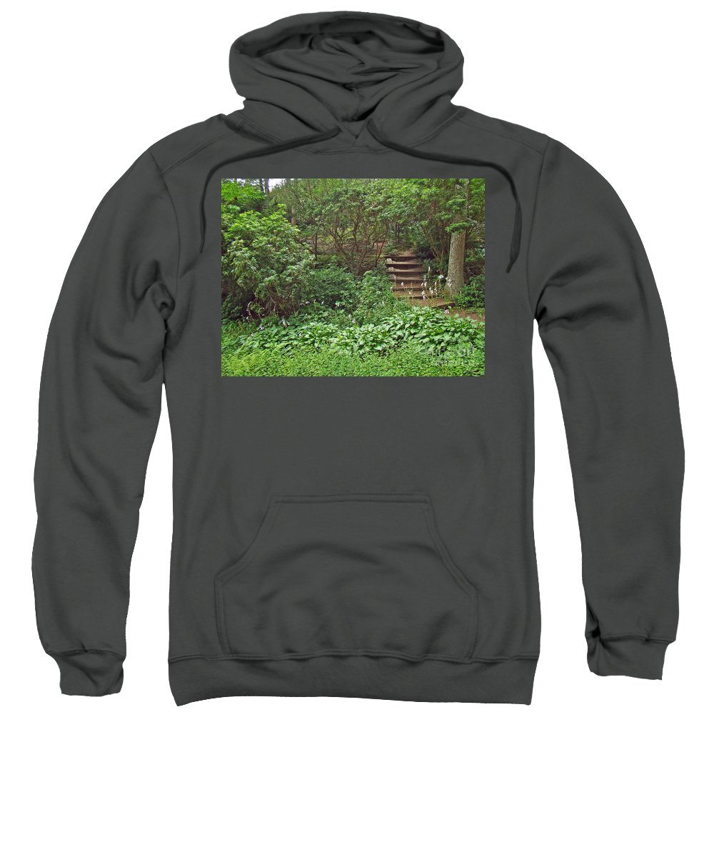 Garden Sweatshirt featuring the photograph Spohr Gardens - Quissett - Falmouth - Ma - Cape Cod by Mother Nature