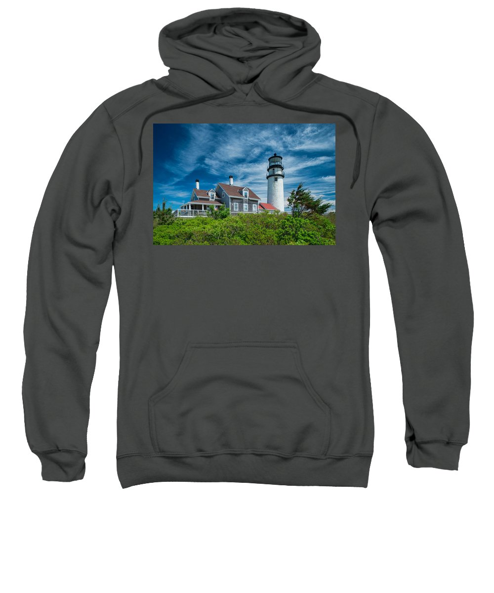 Cape Cod Sweatshirt featuring the photograph Spring At Cape Cod Light by Michael Blanchette