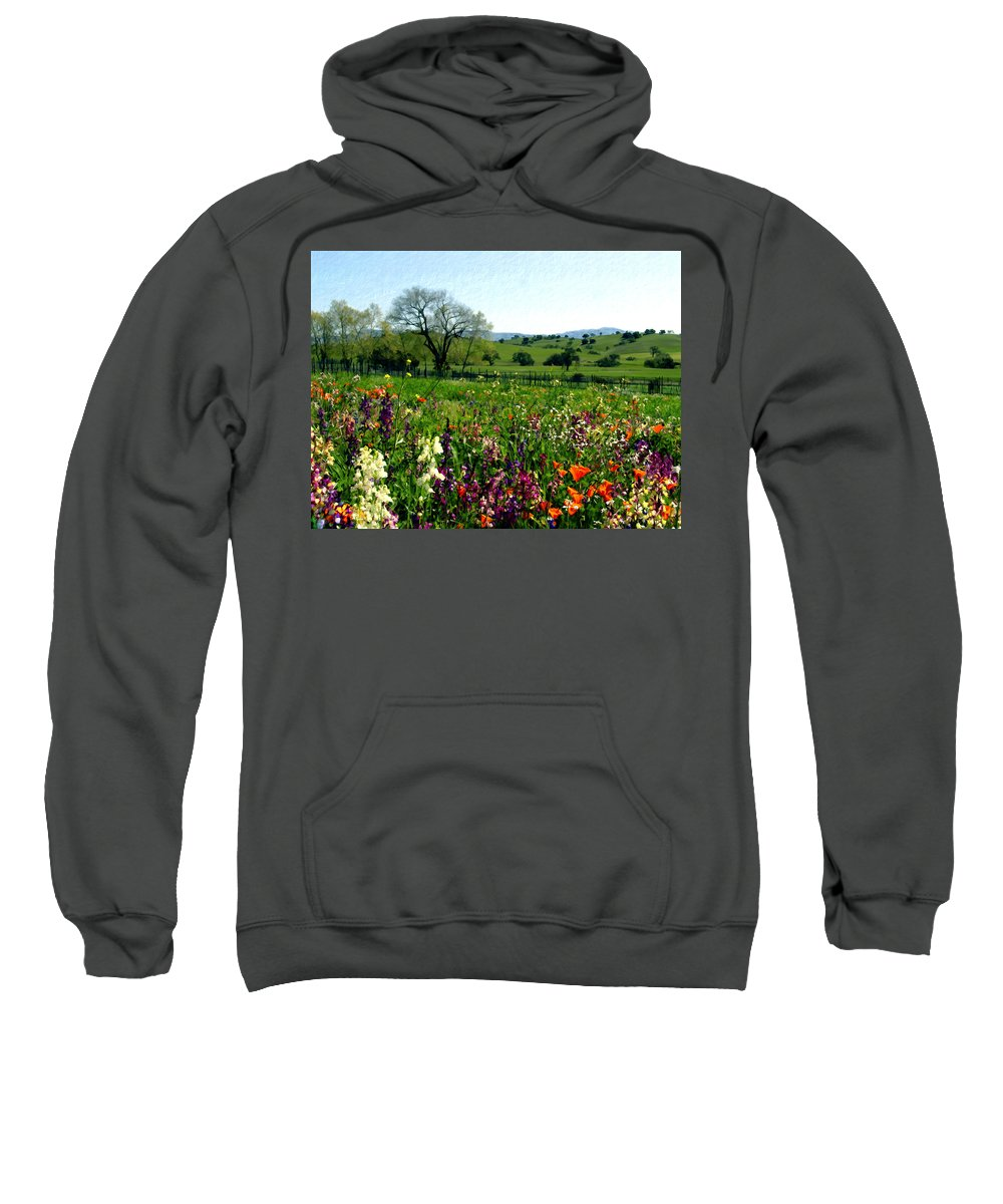 Flowers Sweatshirt featuring the photograph Spring Bouquet At Rusack Vineyards by Kurt Van Wagner