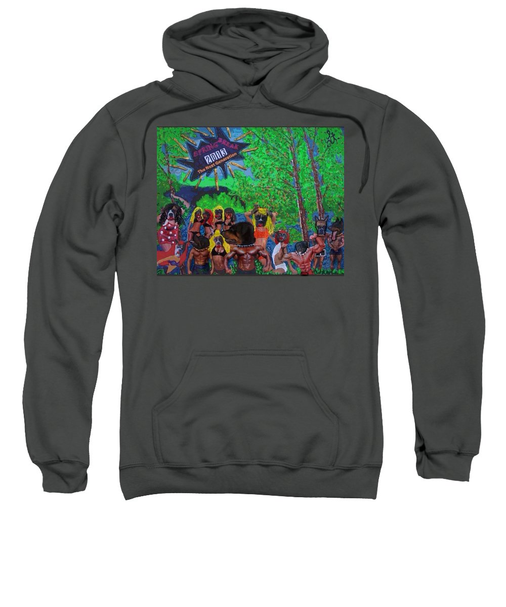 Water Sweatshirt featuring the painting Spring Break 2013 by Lisa Piper