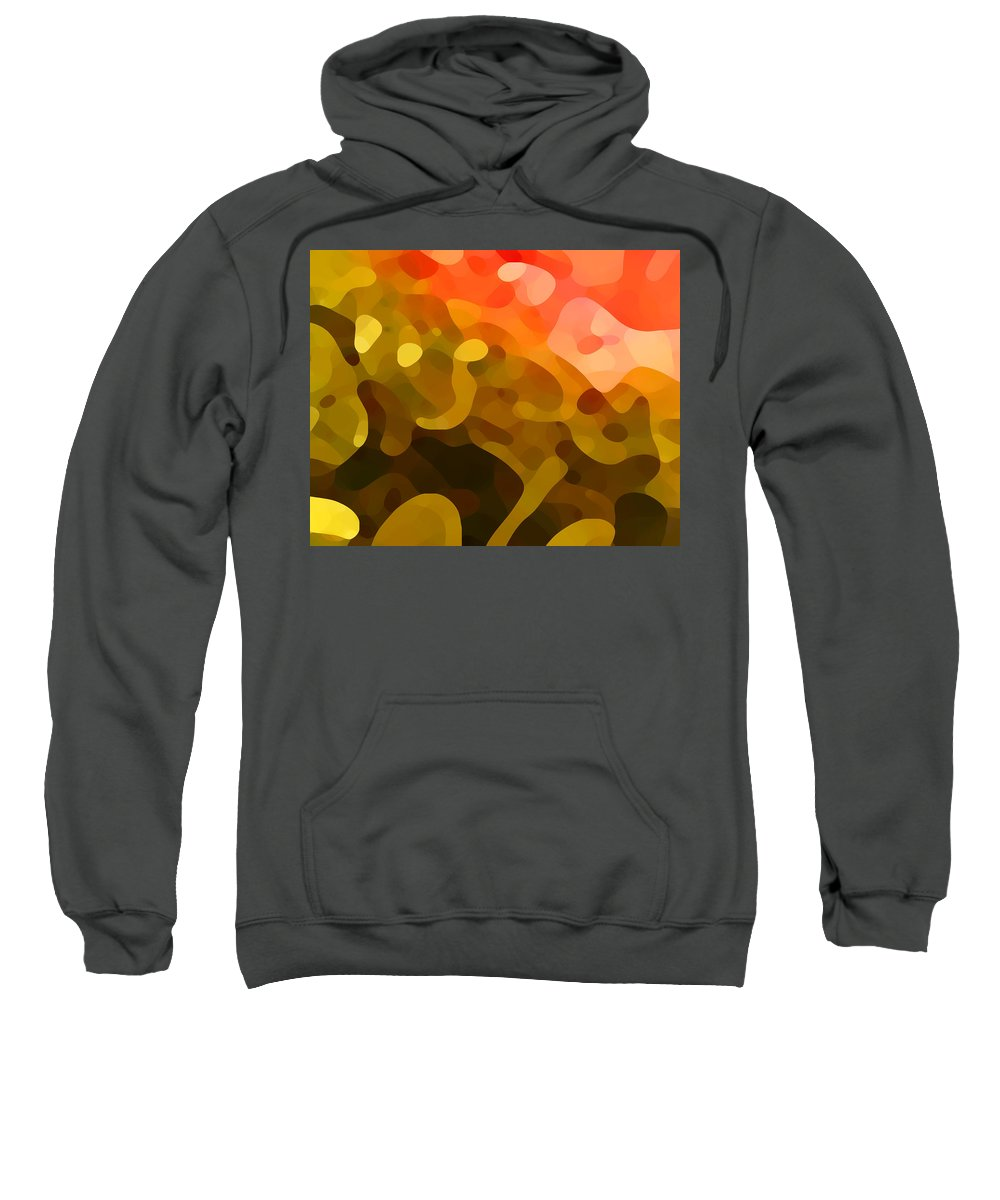 Abstract Sweatshirt featuring the painting Spring Day by Amy Vangsgard