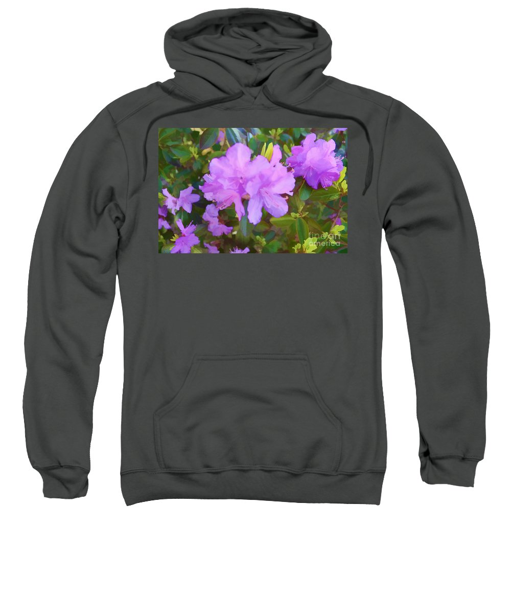 Spring Pink Azalea Sweatshirt featuring the digital art Spring Pink Azalea by Luther Fine Art