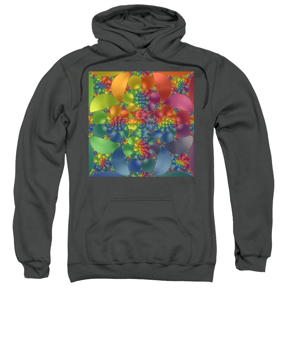 Fractal Sweatshirt featuring the digital art Spring Promises Fractal by Judi Suni Hall
