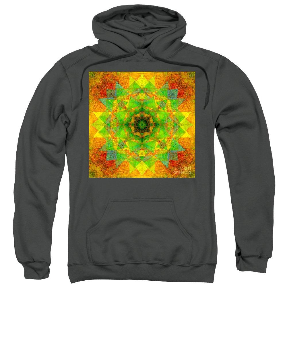 Sri Yantra Sweatshirt featuring the photograph Sri Yantra Variation Mandala by Susan Bloom