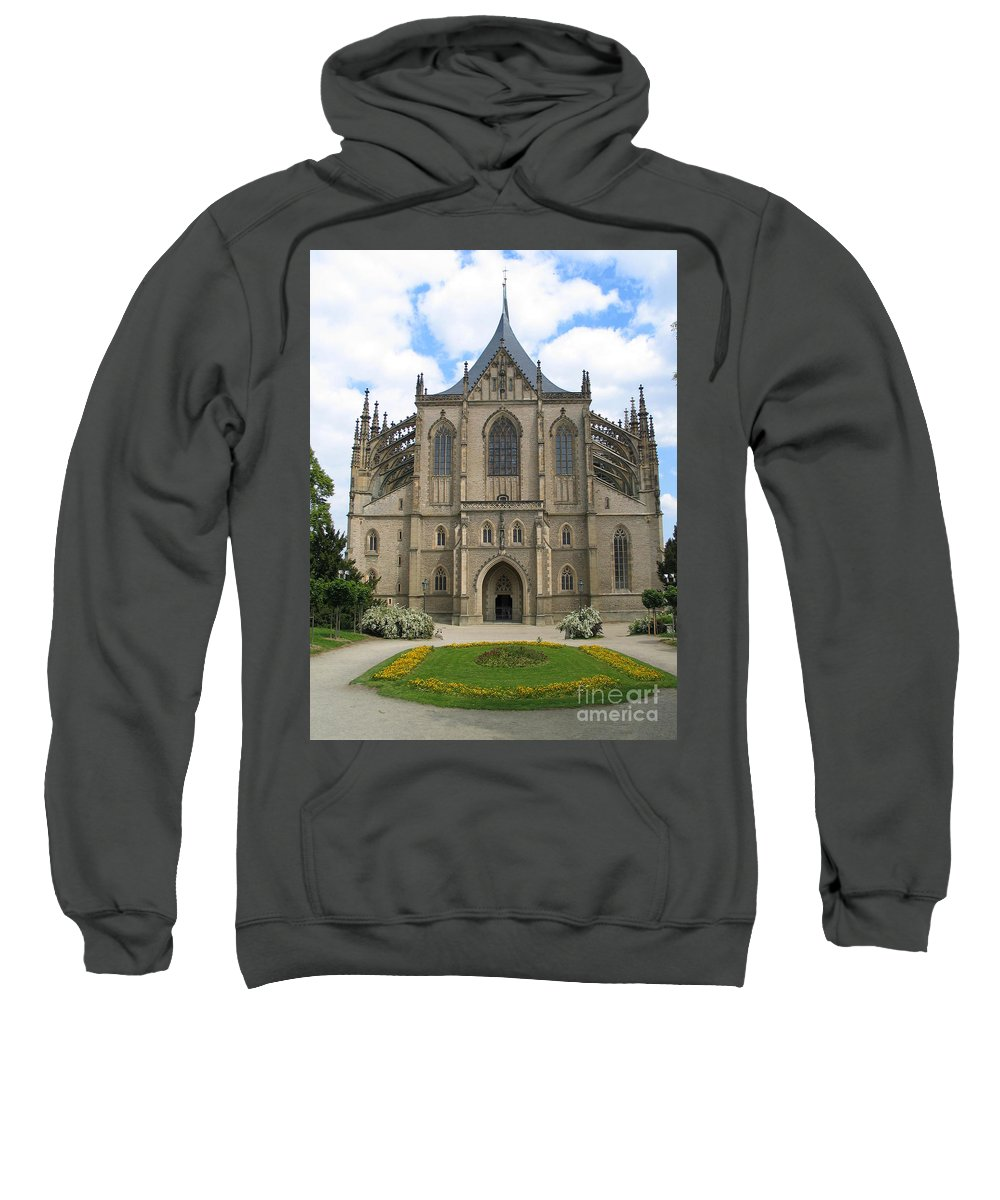 Kutna Hora Sweatshirt featuring the photograph St Barbaras Cathedral Kutna Hora Czech Republic by Jason O Watson