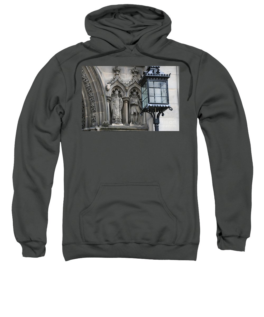 St Giles Church Sweatshirt featuring the photograph St Giles Church Statues 6600 by Jack Schultz