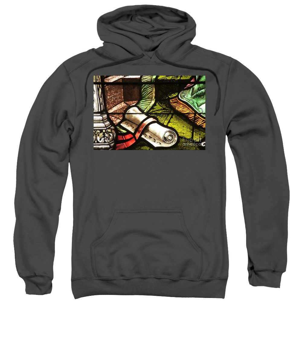 Stained Glass Scroll Sweatshirt featuring the photograph Stained Glass Scroll by Adam Jewell