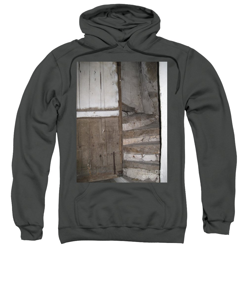 French Village Sweatshirt featuring the photograph Staircase by HEVi FineArt