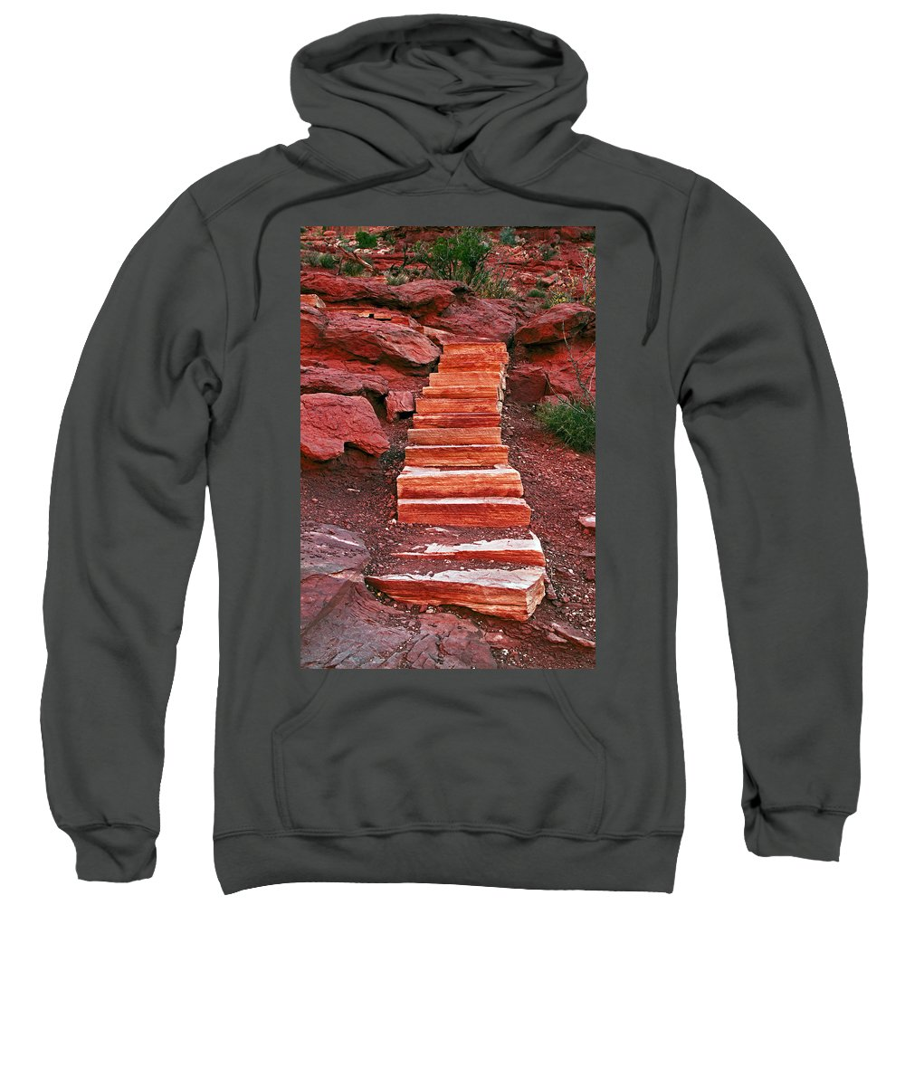 Rocks Sweatshirt featuring the photograph Stairway To Heaven by David Campbell