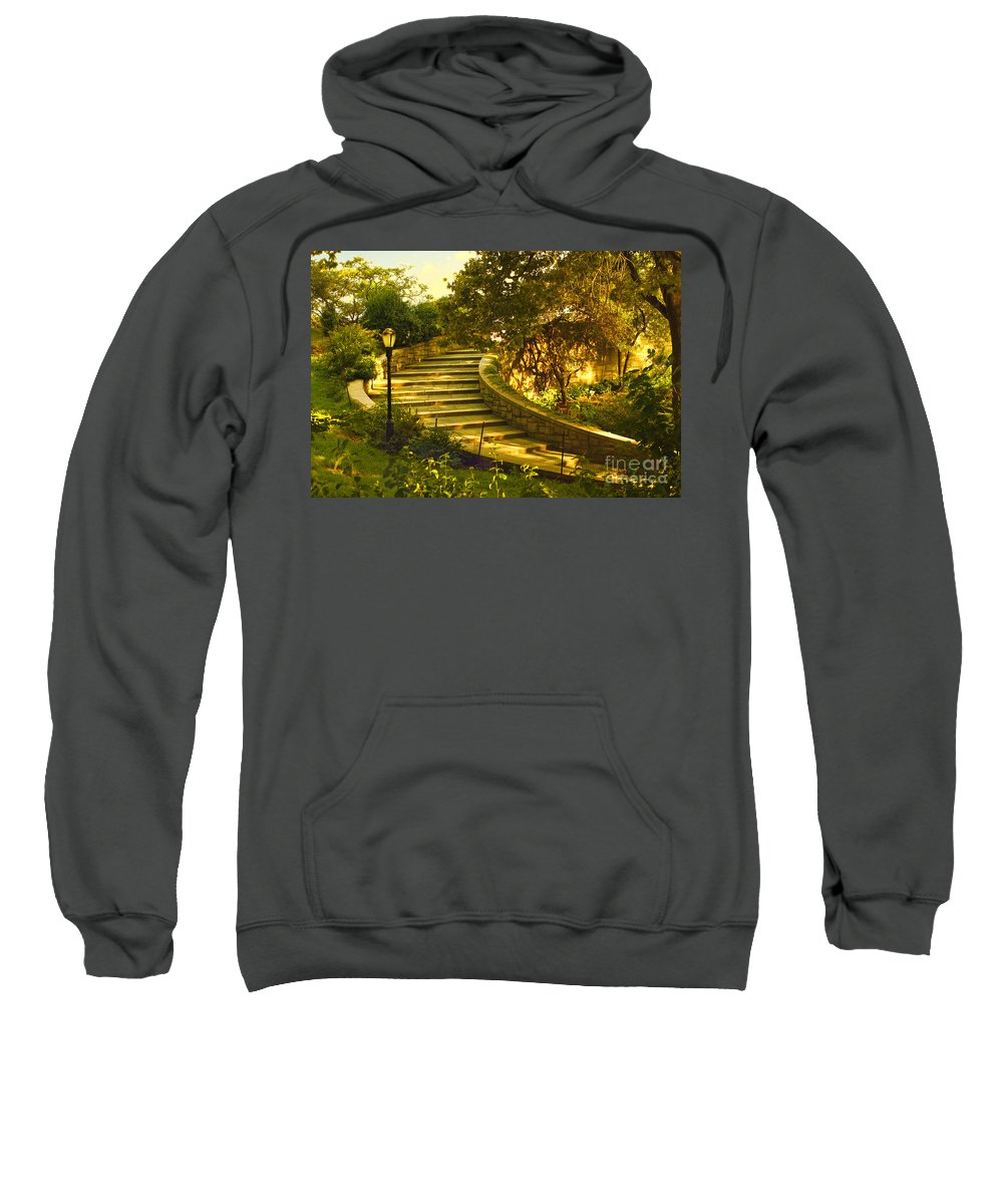 Park Sweatshirt featuring the photograph Stairway To Nirvana by Madeline Ellis