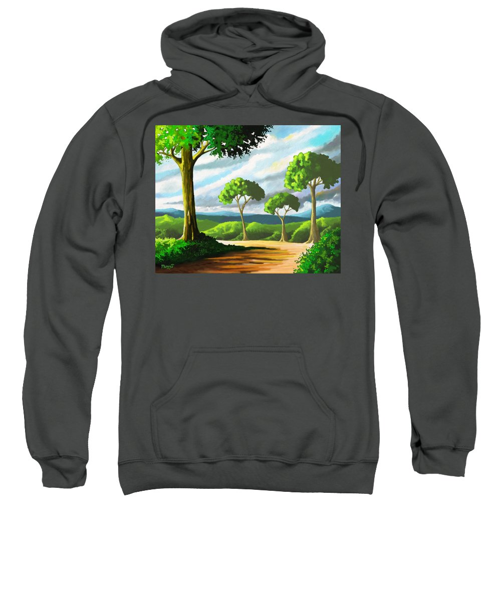 Trees Sweatshirt featuring the painting Family by Anthony Mwangi