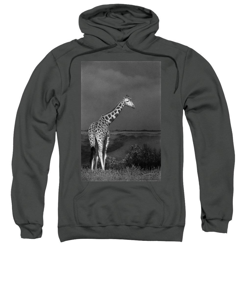 Africa Sweatshirt featuring the drawing Standing Tall by Stirring Images