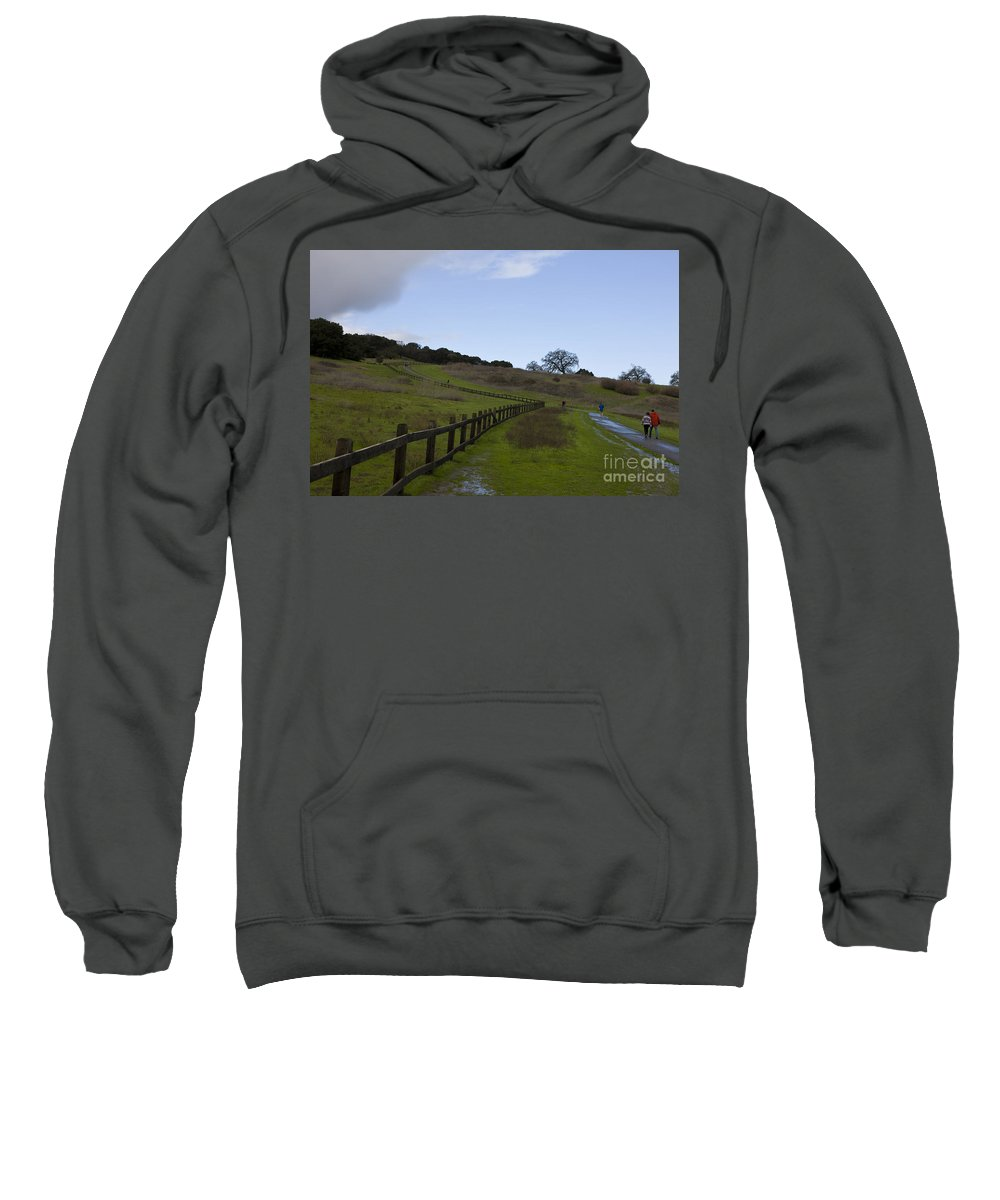 Travel Sweatshirt featuring the photograph Stanford University The Dish Hiking Trail by Jason O Watson