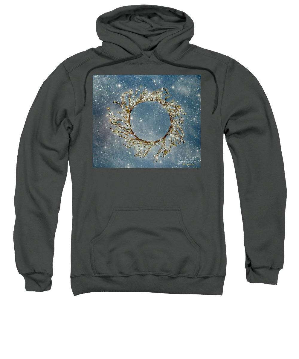 Wreath Sweatshirt featuring the painting Stardust And Pearls by RC DeWinter