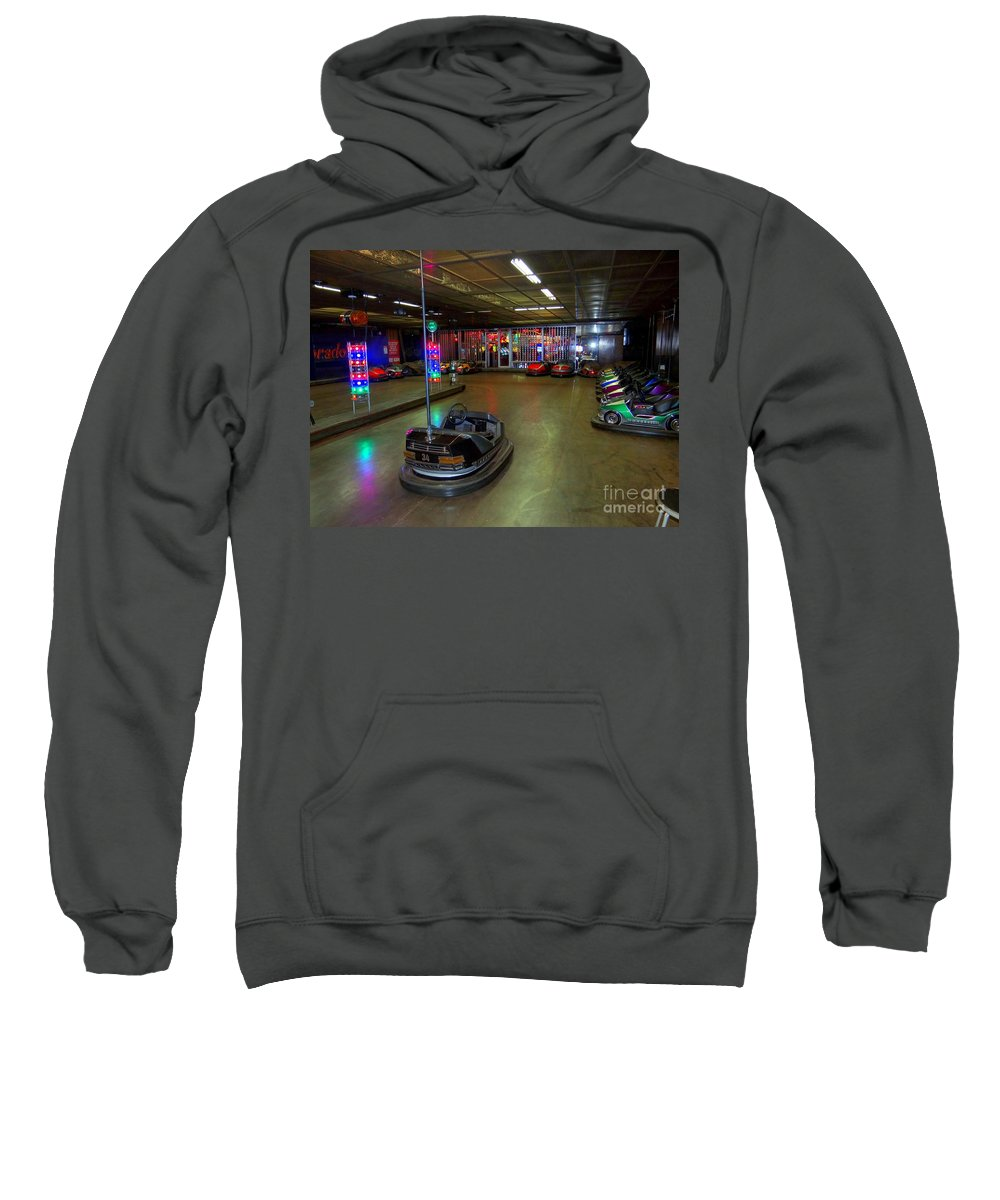 Bumper Cars Sweatshirt featuring the photograph Start Your Engines by Ed Weidman