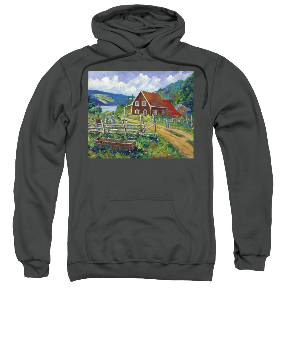 Art Sweatshirt featuring the painting Ste-rose Du Nord by Richard T Pranke