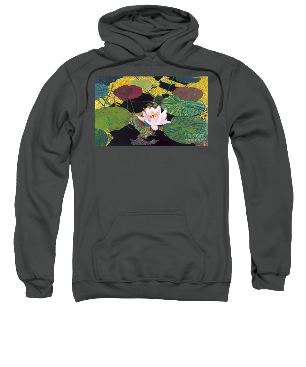 Landscape Sweatshirt featuring the painting Steamy Pond by Allan P Friedlander