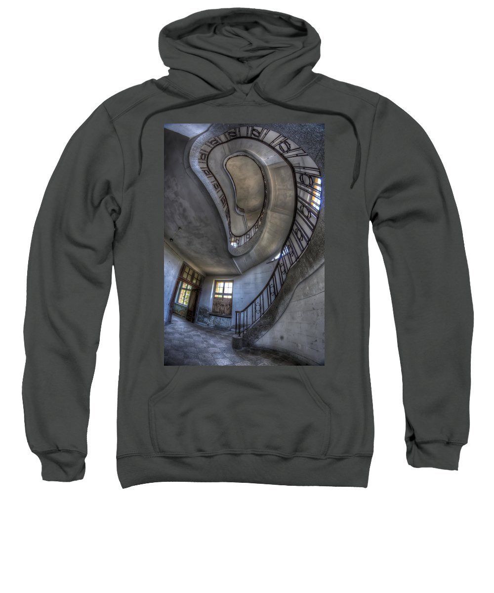 Abandoned Sweatshirt featuring the digital art Steps Of Forgotten Beauty by Nathan Wright