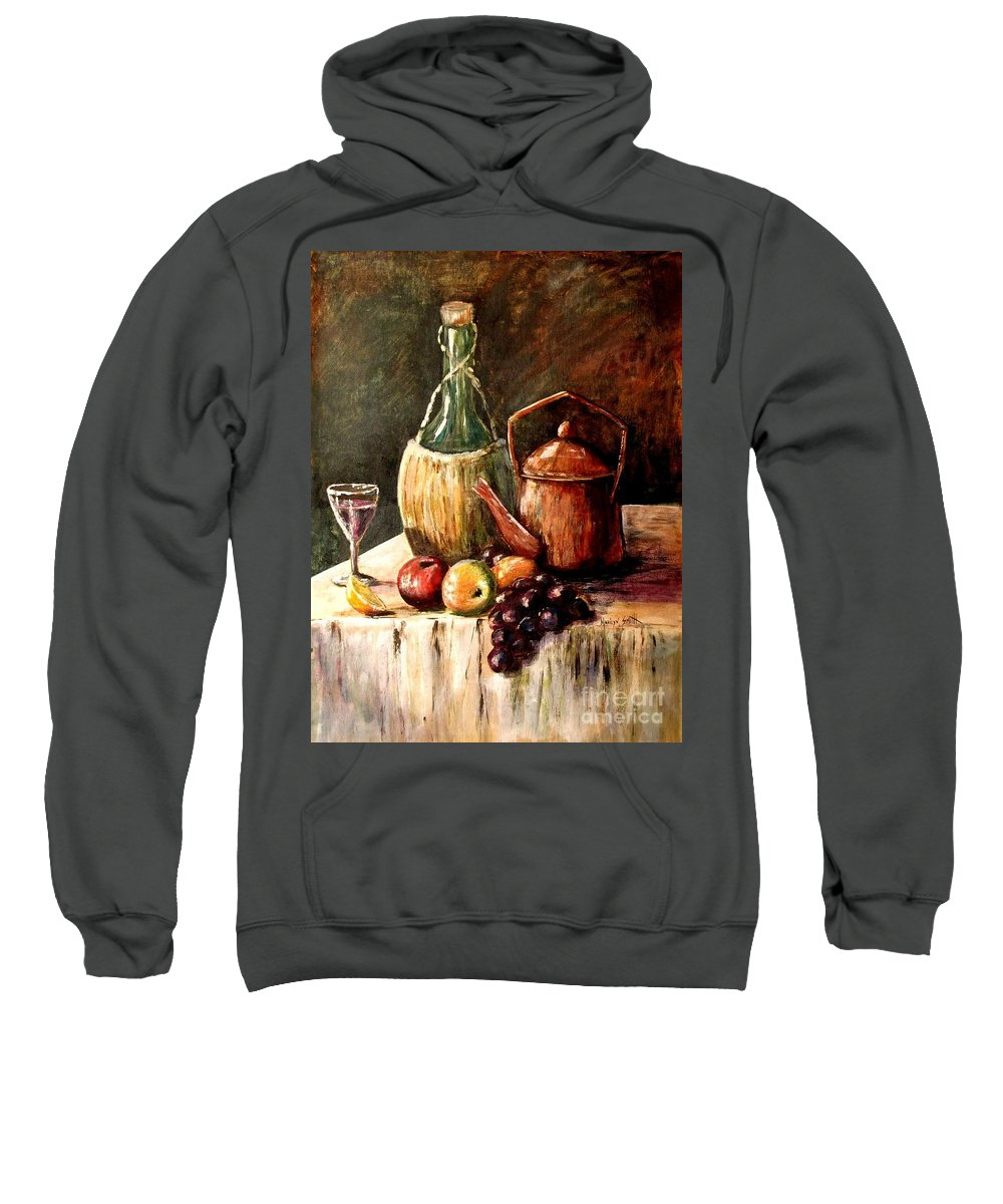 Still Life Sweatshirt featuring the painting Still Life by Marilyn Smith