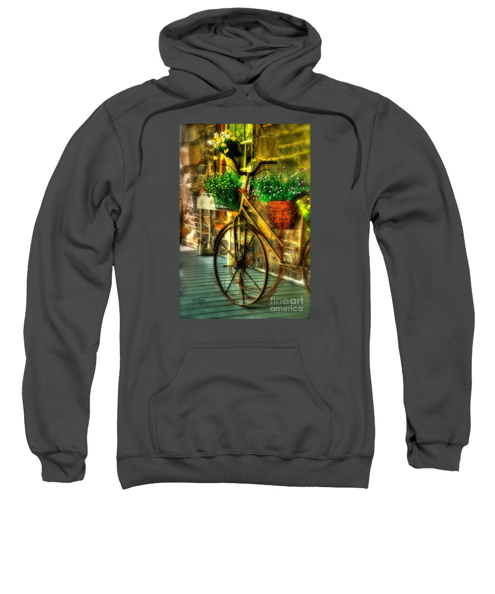 Bike Sweatshirt featuring the photograph Still Useful by Lois Bryan
