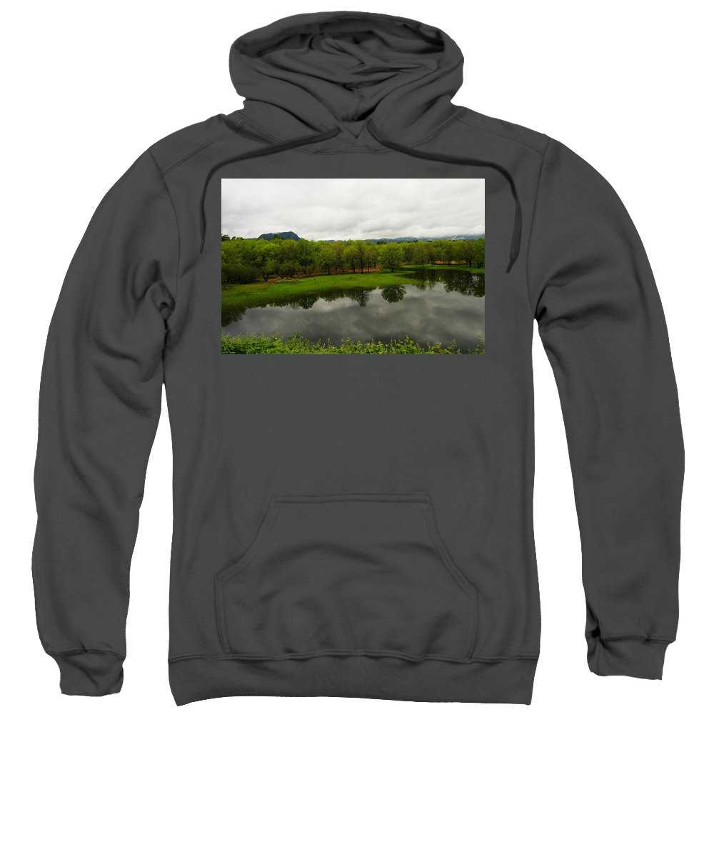 Water Sweatshirt featuring the photograph Still Water Reflecting by Jeff Swan