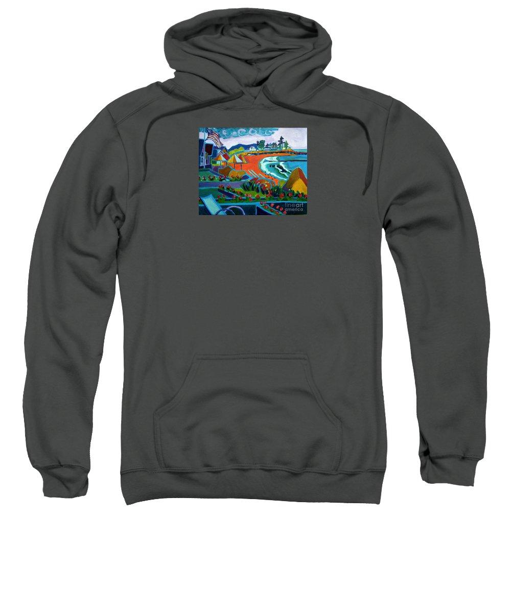 Landscape Sweatshirt featuring the painting Storm Brewing Hampton NH by Debra Bretton Robinson