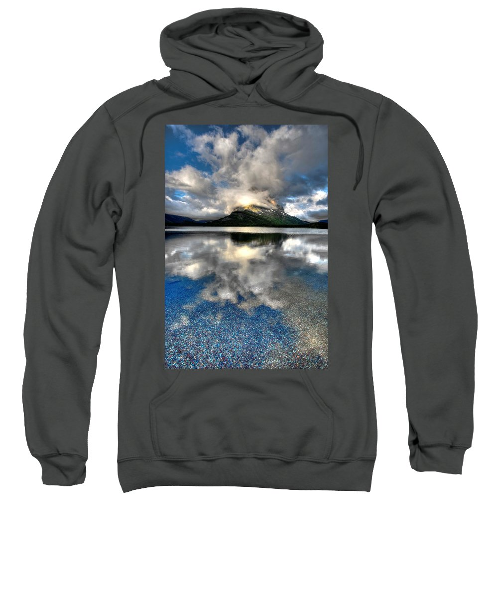 Calm Sweatshirt featuring the photograph Storm Mountain by David Andersen