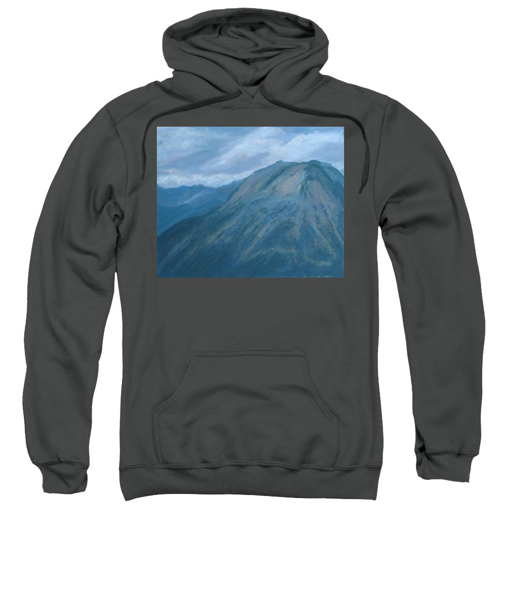 Storm Sweatshirt featuring the painting Storm Off Trail Ridge by Jenny Armitage