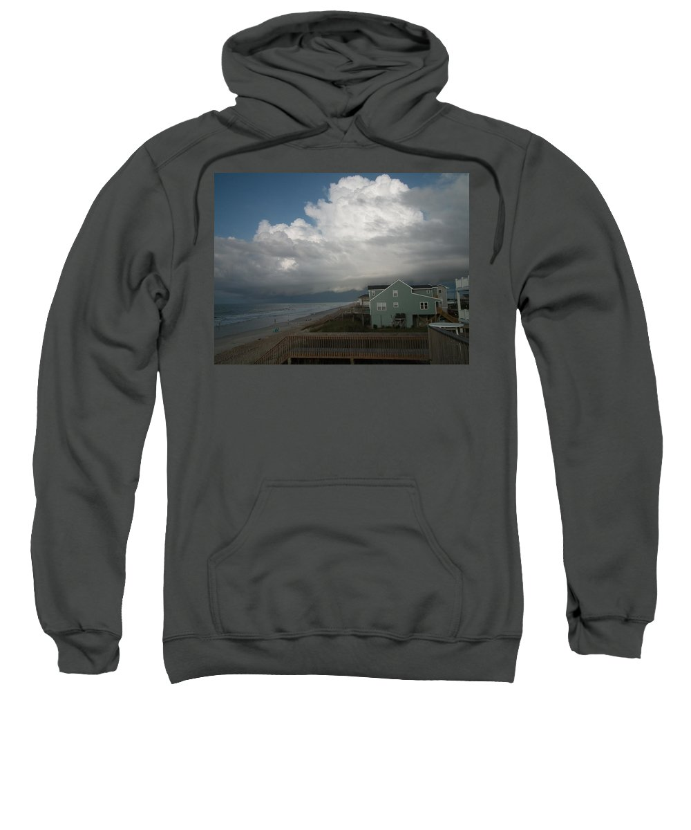 Weather Sweatshirt featuring the photograph Storm On The Horizon by Christopher Westbrook