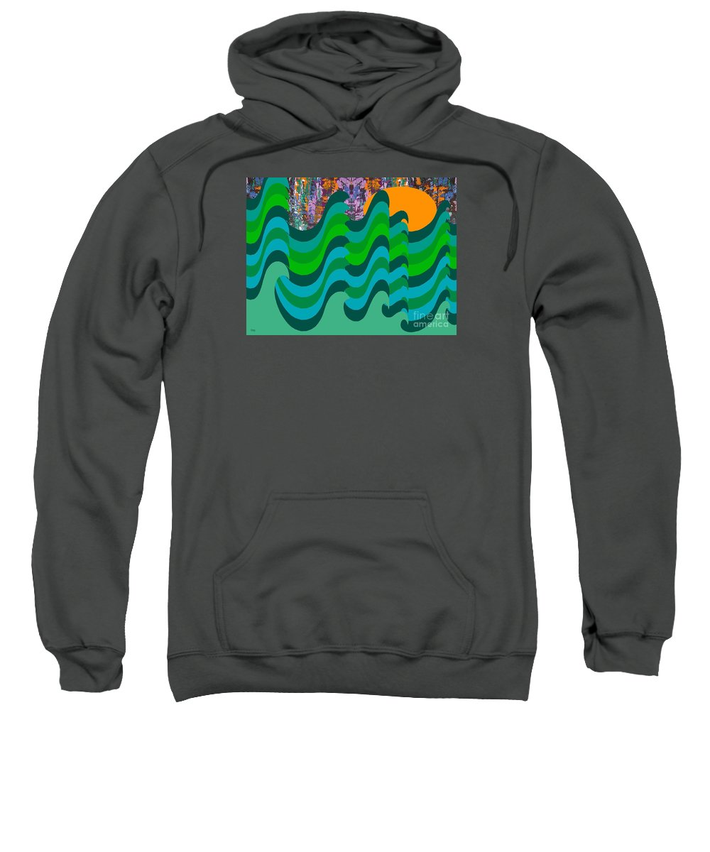 Landscapes Sweatshirt featuring the painting Stormy Sea by Patrick J Murphy