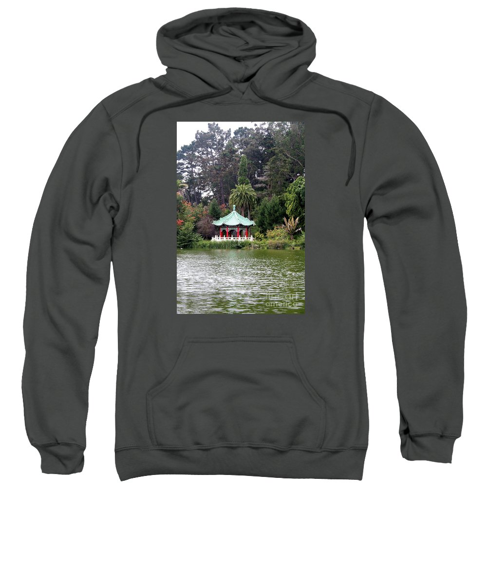 San Francisco Sweatshirt featuring the photograph Stow Lake Chinese Pavilion by Christiane Schulze Art And Photography