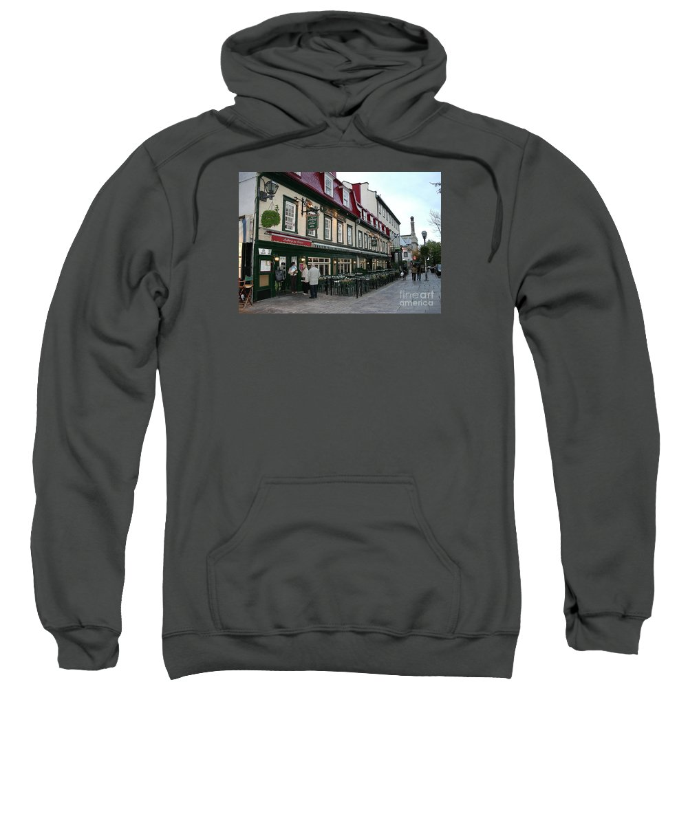 Street Sweatshirt featuring the photograph Street In Quebec by Christiane Schulze Art And Photography