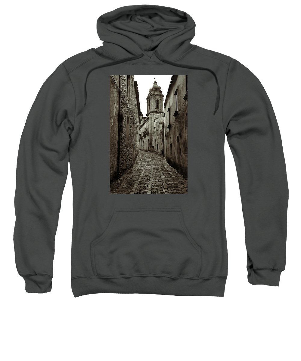 Erice Sweatshirt featuring the photograph Street Of Erice by RicardMN Photography