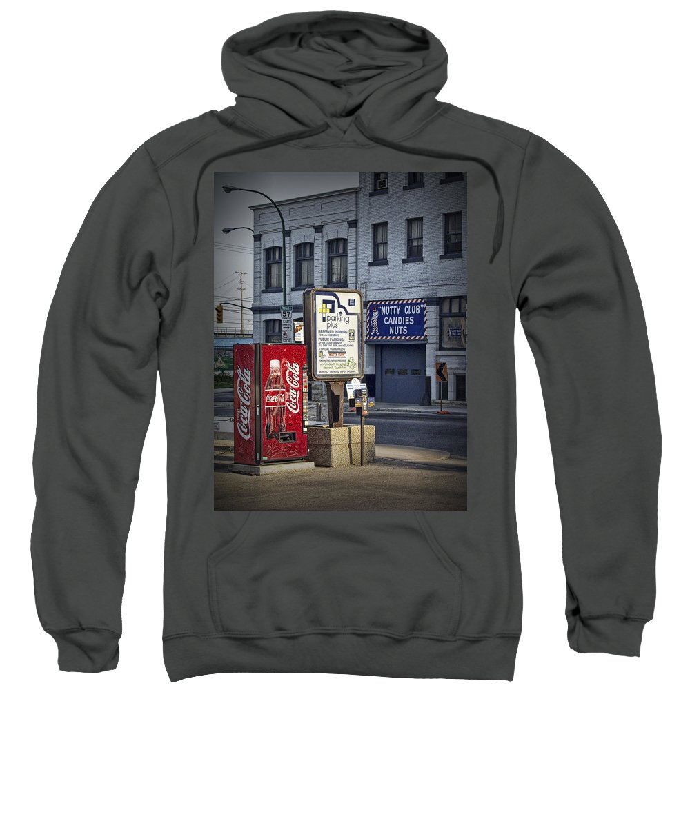 Art Sweatshirt featuring the photograph Street Scene With Coke Machine No. 2110 by Randall Nyhof