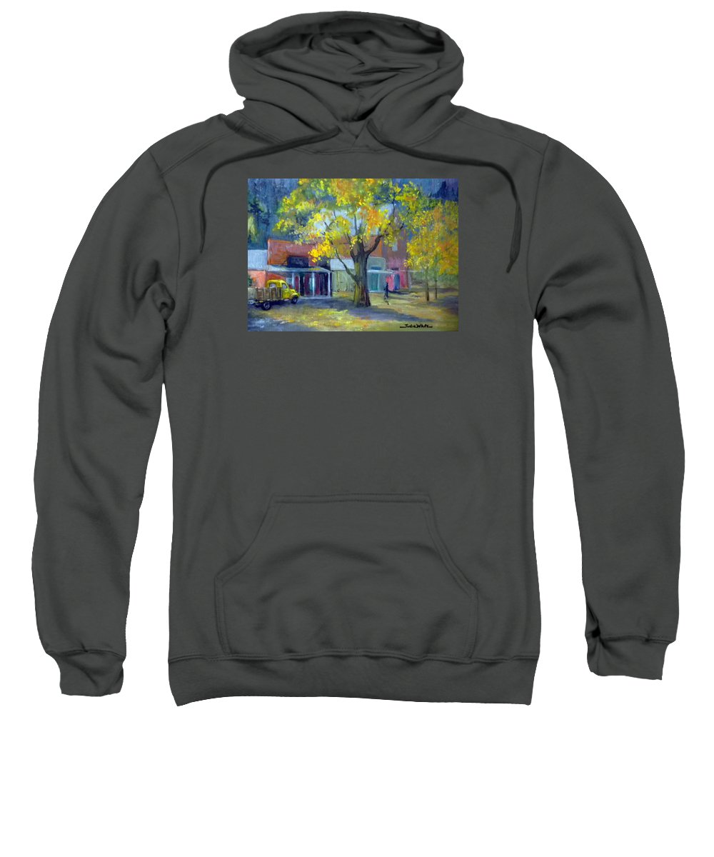 Genoa Sweatshirt featuring the painting Streets Of Genoa by Judie White
