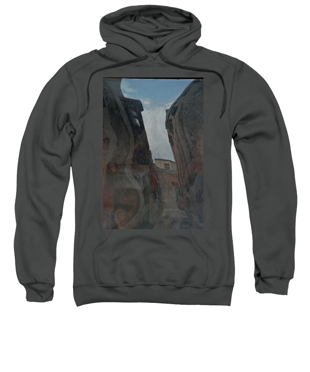 Carnival Mirror Sweatshirt featuring the photograph Streetscape by Joseph Yarbrough