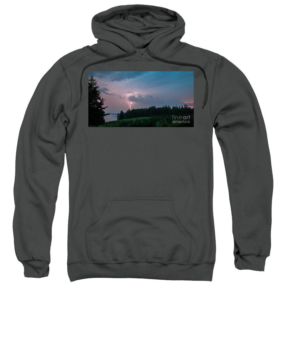 Hancock Point Sweatshirt featuring the photograph Strike On Hancock Point by Scott Thorp
