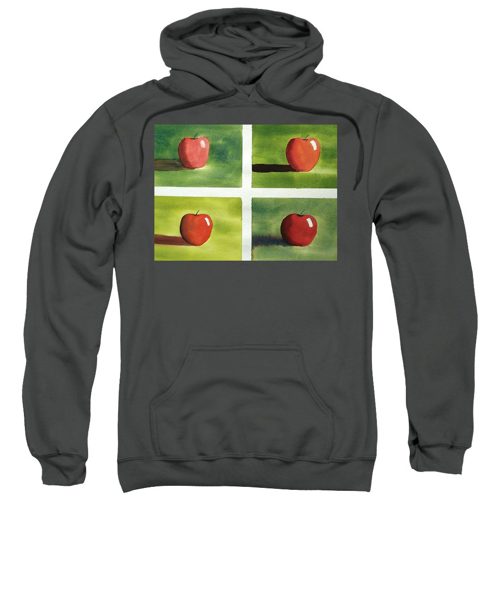 Still Life Sweatshirt featuring the painting Study Red And Green by Richard Faulkner