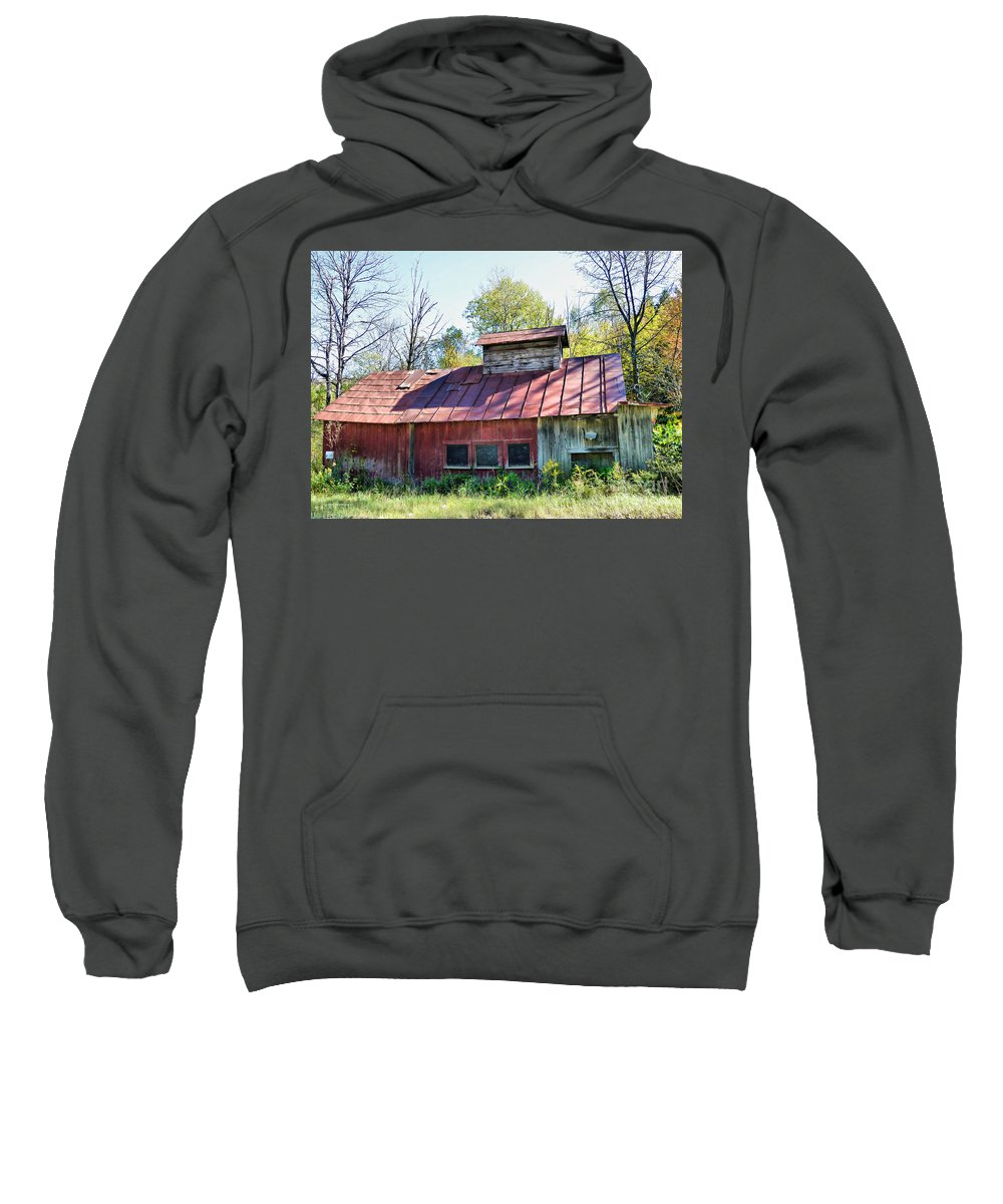 Sugar House Sweatshirt featuring the photograph Sugar House Of Old by Deborah Benoit