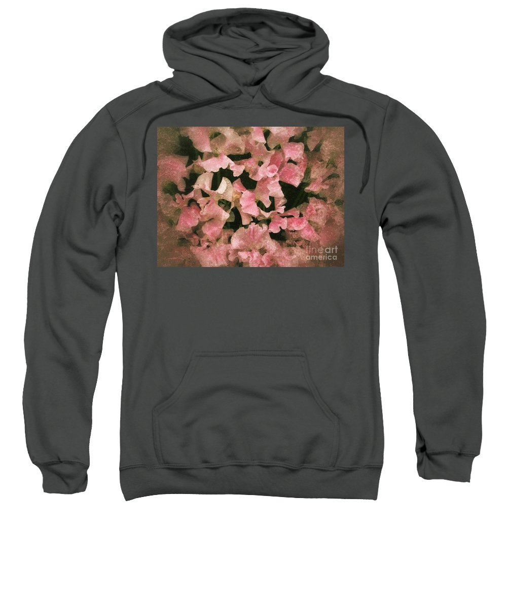 Sweet Peas Sweatshirt featuring the photograph Sugared Sweetpeas by Joan-Violet Stretch