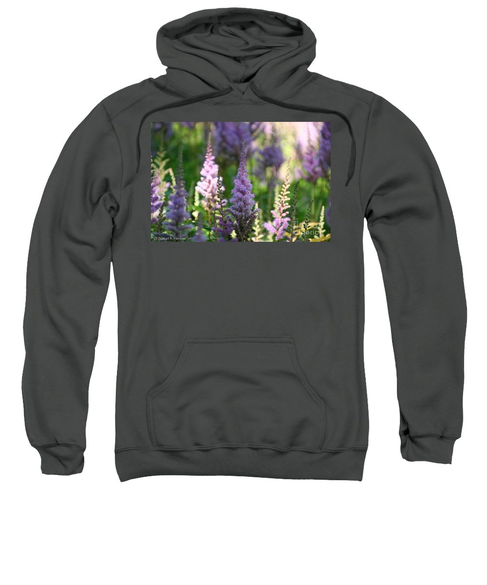 Flower Sweatshirt featuring the photograph Summer Astilbe by Susan Herber