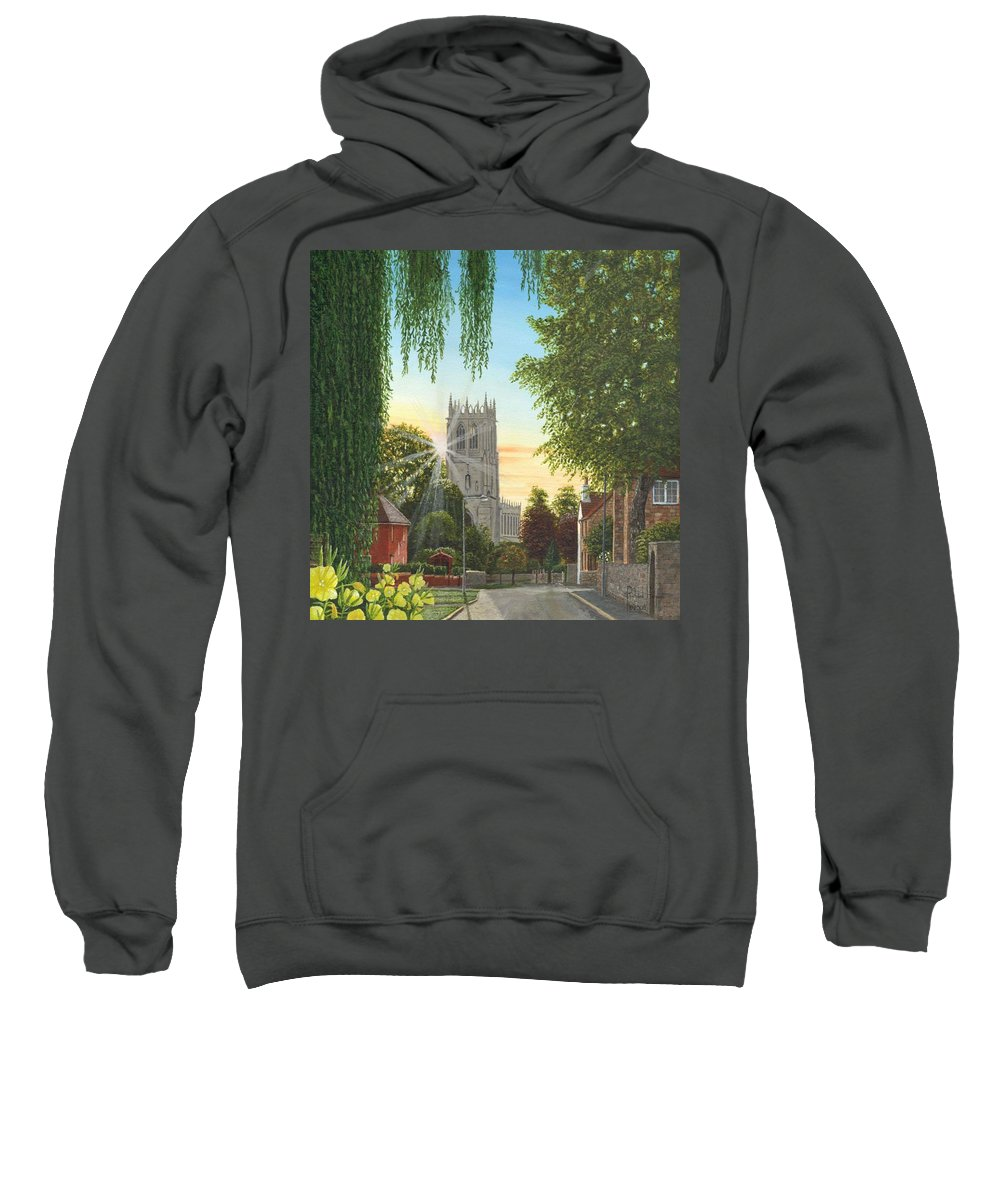 Landscape Sweatshirt featuring the painting Summer Morning St. Mary by Richard Harpum