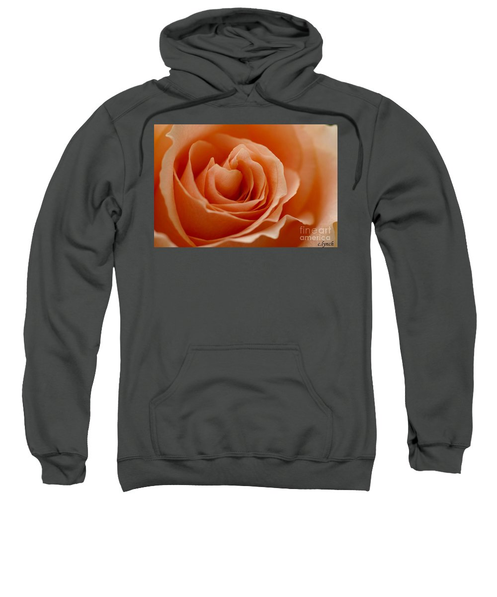 Peach Sweatshirt featuring the photograph Summer Peach by Carol Lynch