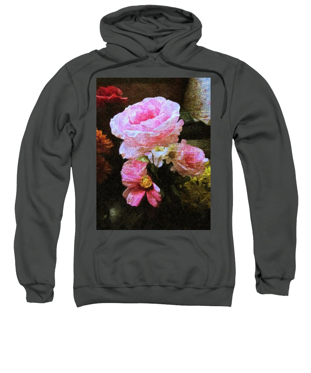 Flowers Sweatshirt featuring the photograph Summer Roses by Shannon Story